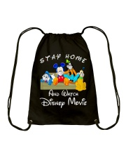 Stay home Drawstring Bag thumbnail