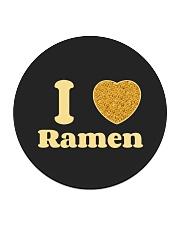 I love Ramen Circle Coaster front
