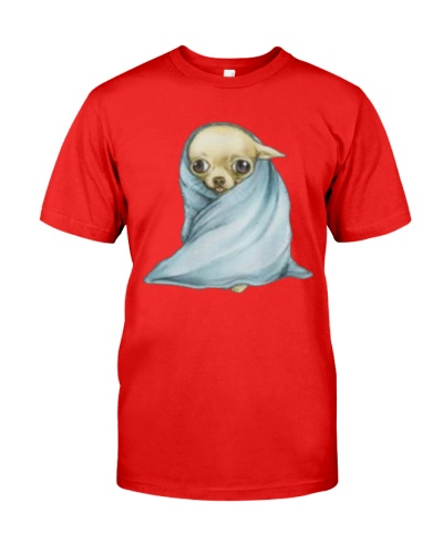 Chihuahua Wrapped in A Banket