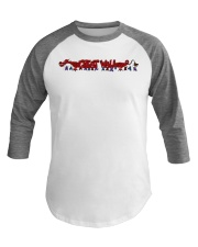 Great Wall of PAIN Baseball Tee front