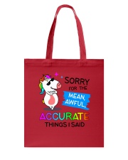 Unicorn Sorry 0410 Tote Bag tile