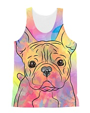 French Bulldog Color Summer All-over Unisex Tank front
