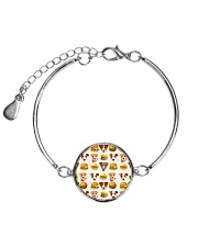 Jack Russell Terrier hamburger 1406L Metallic Circle Bracelet thumbnail