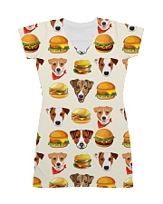 Jack Russell Terrier hamburger 1406L All-over Dress thumbnail