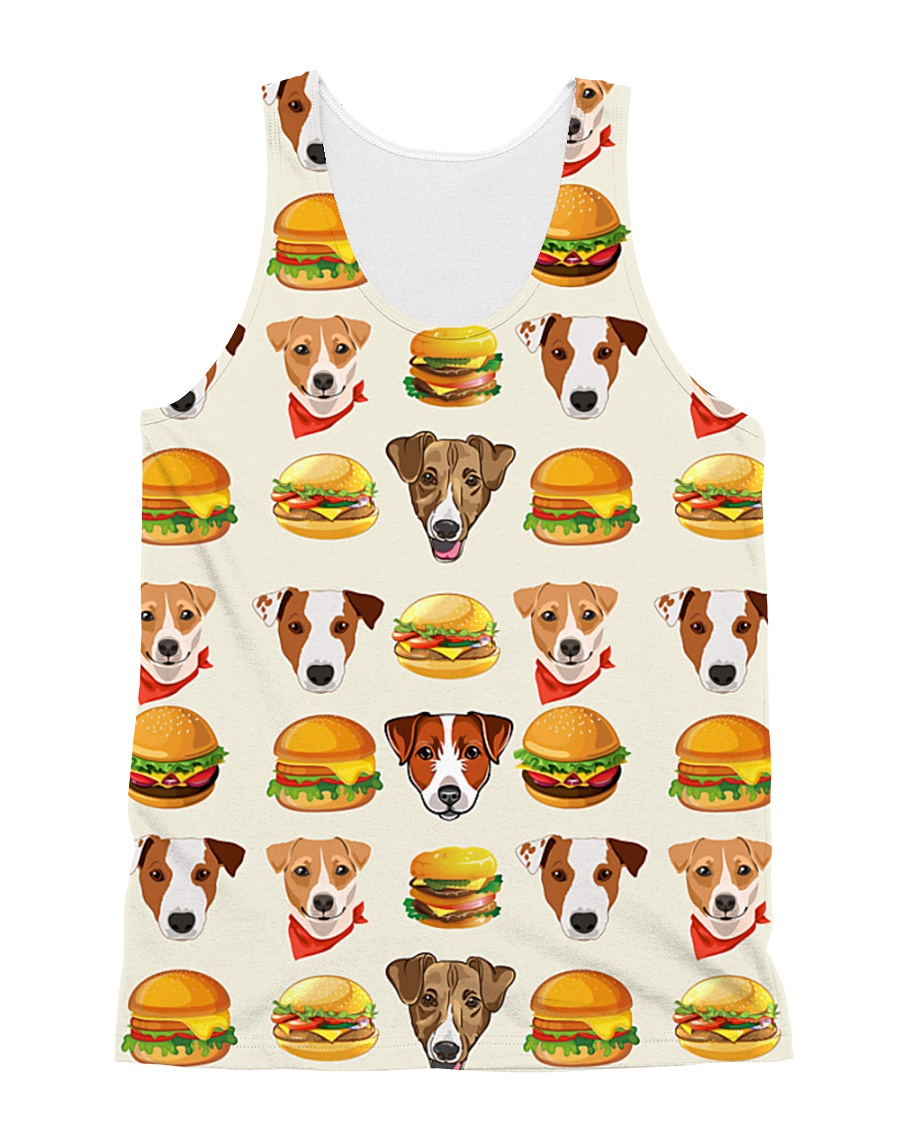 Jack Russell Terrier hamburger 1406L All-over Unisex Tank