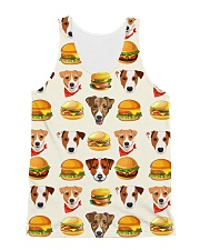 Jack Russell Terrier hamburger 1406L All-over Unisex Tank front