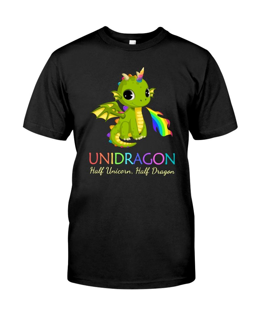 Half Unicorn Half Dragon 2906 Classic T-Shirt