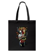 Skull woman cat Tote Bag thumbnail