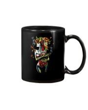 Skull woman cat Mug thumbnail