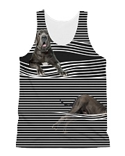 Great Dane Striped  All-over Unisex Tank front