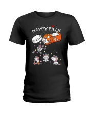 Unicorn Happy Pills  Ladies T-Shirt tile