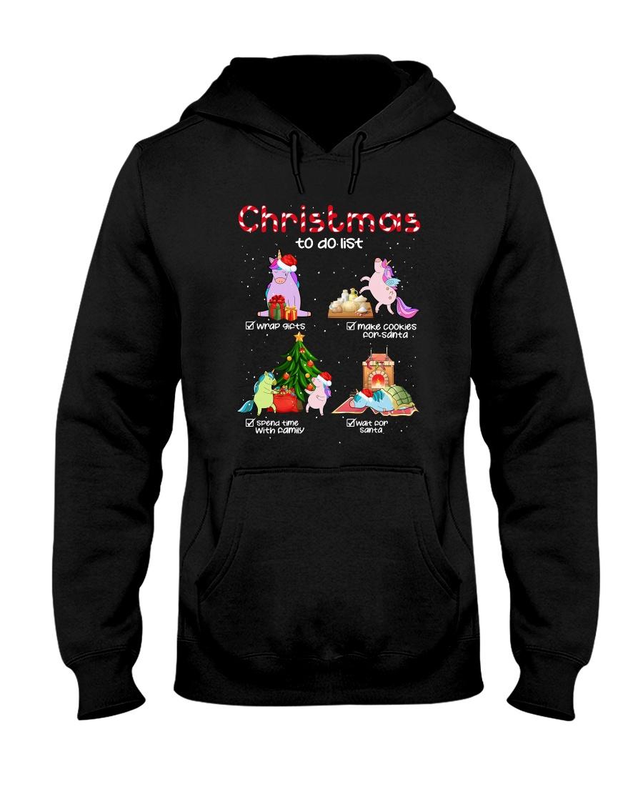 Unicorn Chrismas To Do List 2709 Hooded Sweatshirt