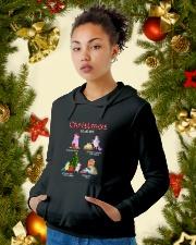 Unicorn Chrismas To Do List 2709 Hooded Sweatshirt lifestyle-holiday-hoodie-front-4