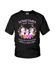 Unicorn transformed 111 Youth T-Shirt thumbnail