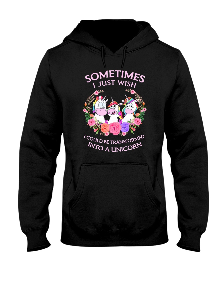 Unicorn transformed 111 Hooded Sweatshirt