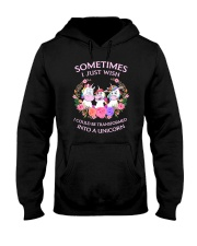 Unicorn transformed 111 Hooded Sweatshirt front
