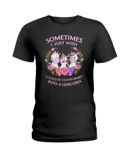 Unicorn transformed 111 Ladies T-Shirt thumbnail
