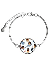 Rottweiler Summer Pattern 1406 Metallic Circle Bracelet thumbnail