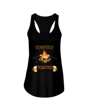Camping Bonfire Beer Toasted 1406 Ladies Flowy Tank thumbnail