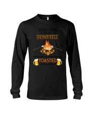 Camping Bonfire Beer Toasted 1406 Long Sleeve Tee thumbnail