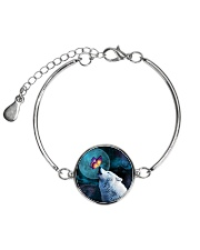 Wolf Moon with Butterfly 1506 Metallic Circle Bracelet thumbnail