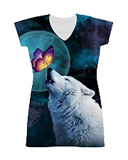 Wolf Moon with Butterfly 1506 All-over Dress thumbnail