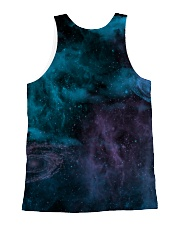 Wolf Moon with Butterfly 1506 All-over Unisex Tank back