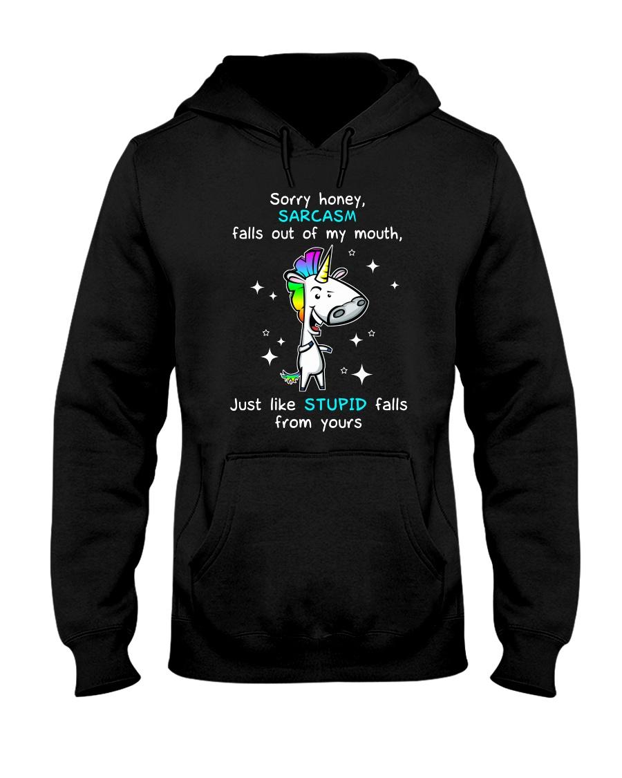Unicorn sorry honey 1211 Hooded Sweatshirt