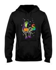 Unicorn Skeleton halloween 0108 Hooded Sweatshirt thumbnail