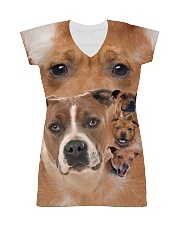 Staffy Heads 1506L All-over Dress thumbnail