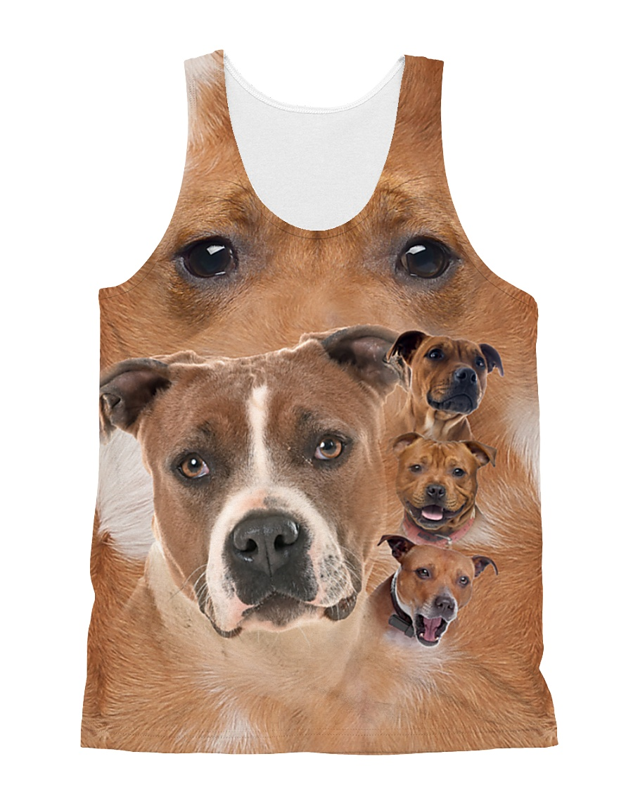 Staffy Heads 1506L All-over Unisex Tank