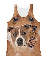 Staffy Heads 1506L All-over Unisex Tank front