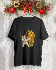 Unicorn Mummy DAB 2708 Classic T-Shirt lifestyle-holiday-crewneck-front-2