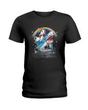 Unicorn Shark  Ladies T-Shirt thumbnail