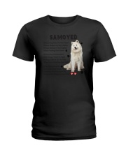 Samoyed - Leave paw prints on your heart 1906P Ladies T-Shirt thumbnail