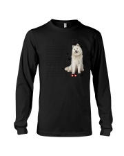 Samoyed - Leave paw prints on your heart 1906P Long Sleeve Tee thumbnail