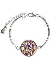 Jack Russell Terrier - Independence Day 506D Metallic Circle Bracelet thumbnail