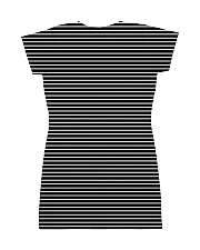 Beagle Striped  All-over Dress back