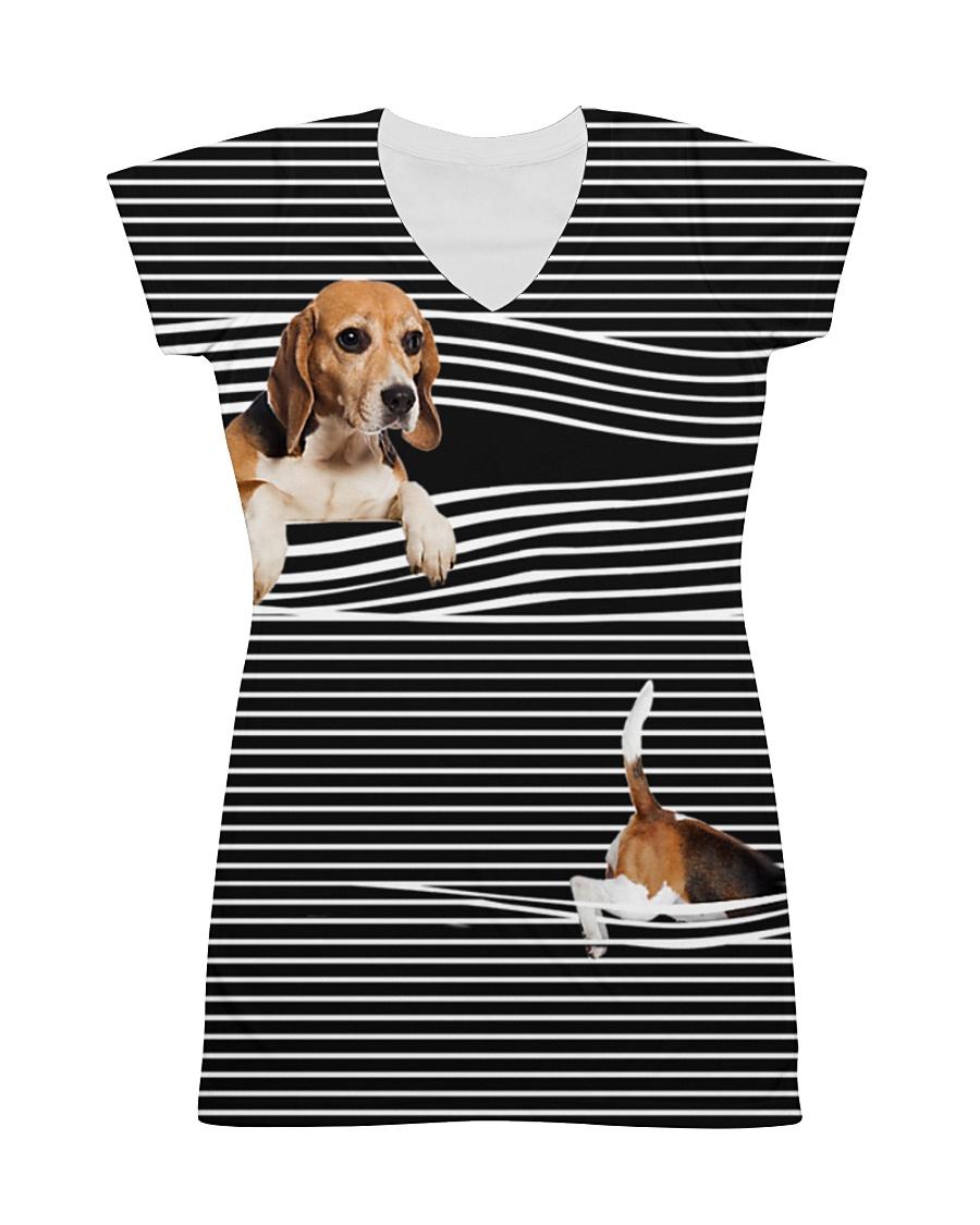 Beagle Striped  All-over Dress
