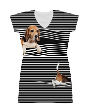 Beagle Striped  All-over Dress front