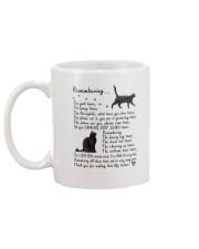 Black Cat Remembering Mug back