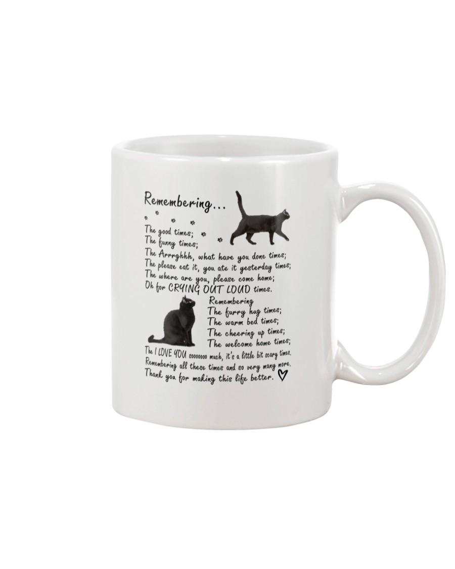 Black Cat Remembering Mug