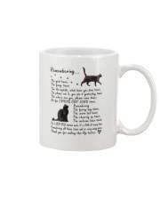 Black Cat Remembering Mug front