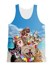 Cat Sea All-over Unisex Tank front