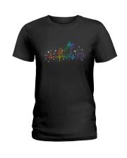 Unicorn heartbeat 1308 Ladies T-Shirt thumbnail