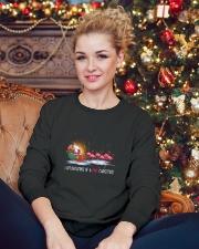 Unicorn Pink Christmas 1109 Crewneck Sweatshirt lifestyle-holiday-sweater-front-2