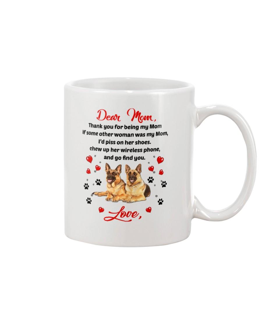 German Shepherd Dear Mom 1906 Mug