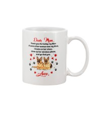 German Shepherd Dear Mom 1906 Mug front