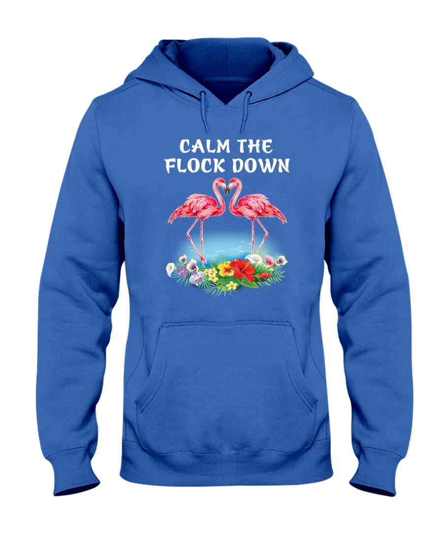 Calm Flock Down Hooded Sweatshirt