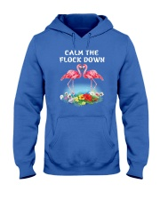 Calm Flock Down Hooded Sweatshirt front